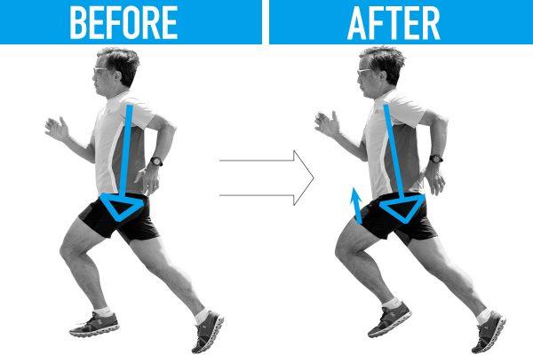 【真鍋未央のランニングフォーム診断&改善メニュー】姿勢が後傾気味で、股関節の可動域が狭い