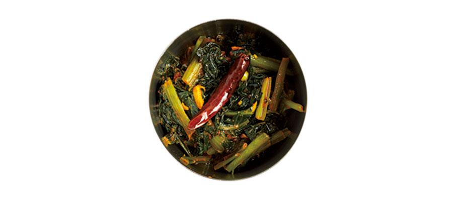 小松菜のアチャール