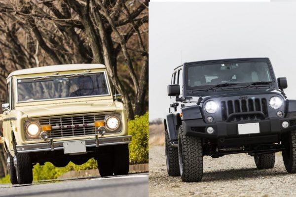 新旧アメリカン4WD「アーリーブロンコ」で洒落ていくか、「最新ジープ」でタフに決めるか?