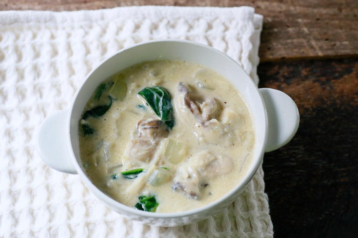 旬到来! うまみたっぷり牡蠣のミルクスープ