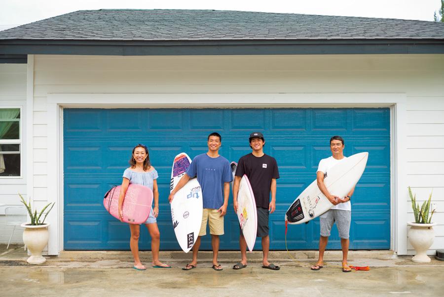 ホームブレイクのすぐそばで暮らすサーファーの家~Matsumono Family at Haleiwa~