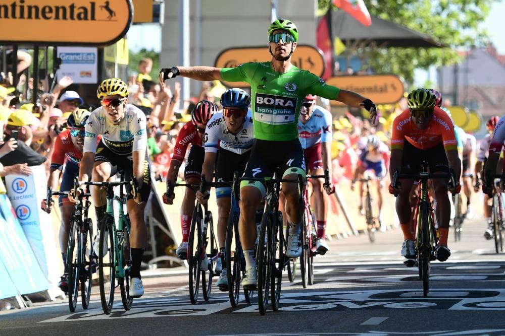 【ツール第5ステージ】緑のマイヨベールを着たサガンが技ありのスプリント勝利