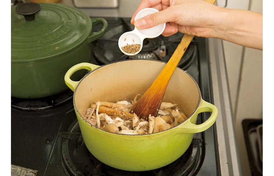 根菜と挽き肉のカレー04