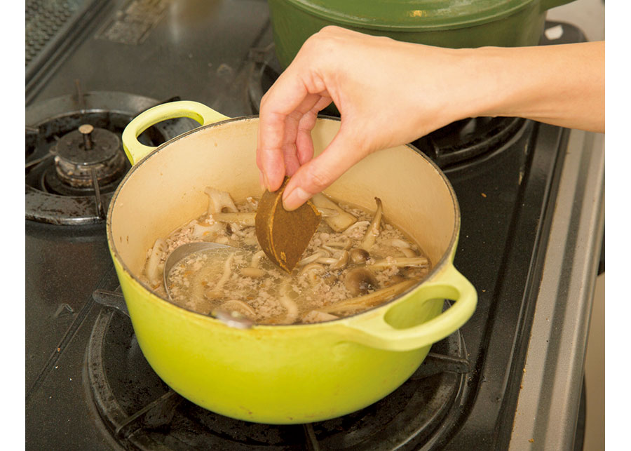 根菜と挽き肉のカレー06