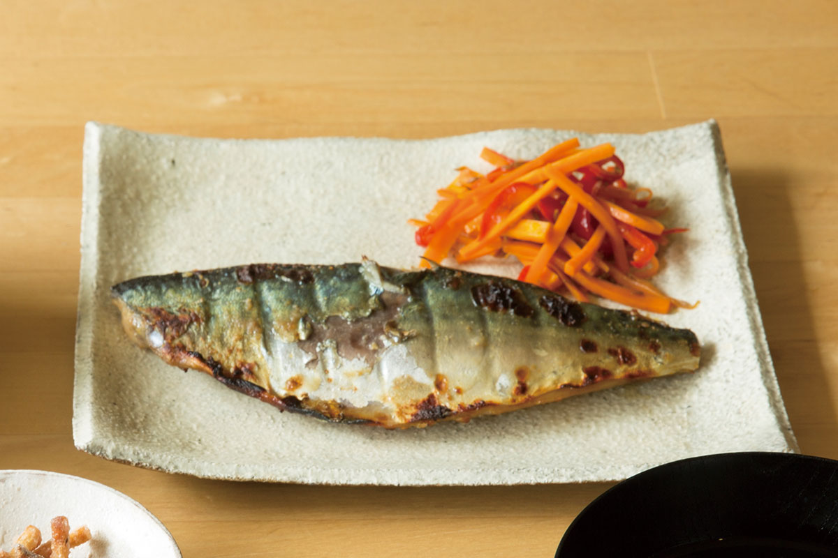鯖のクミン味噌焼き