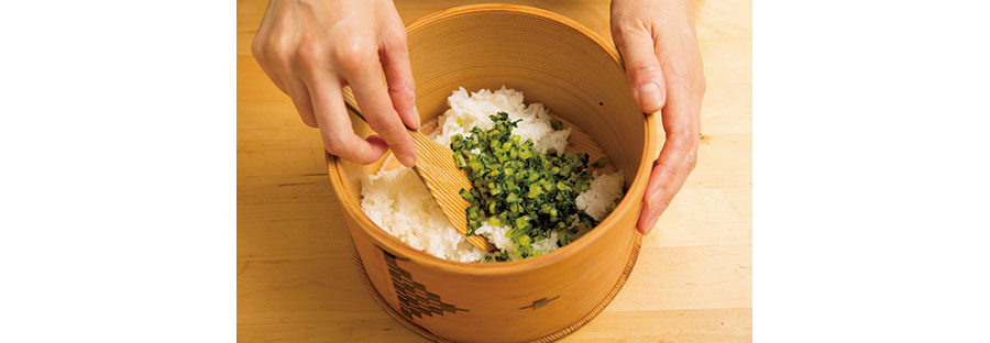 青菜ご飯_作り方
