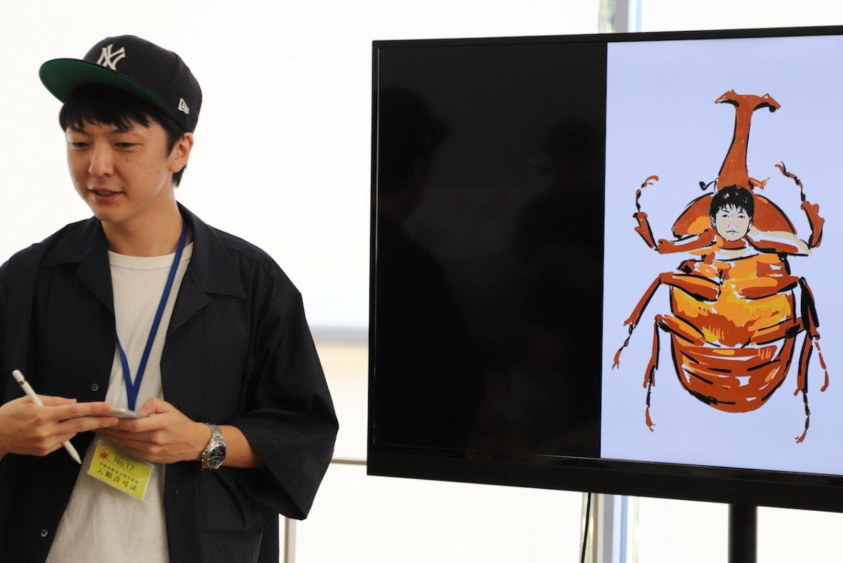 芸術と昆虫が爆発する、じゅえき太郎さんの『ゆるふわ昆虫戯画』セッションを取材