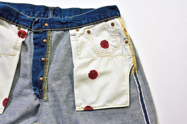 【ブルーナボインの傑作ジーンズ】2本のジーンズを接合させた斬新なカスタム技法