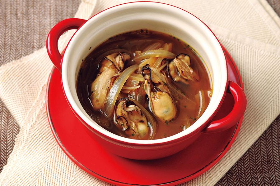 牡蠣のバルサミコスープ