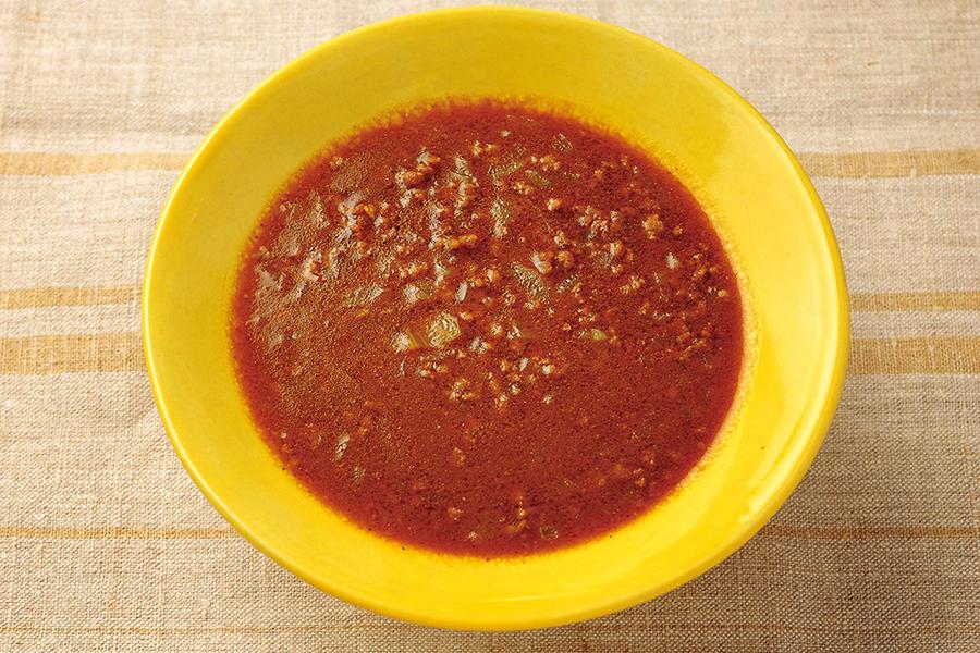 ひき肉と玉ねぎのカレースープ