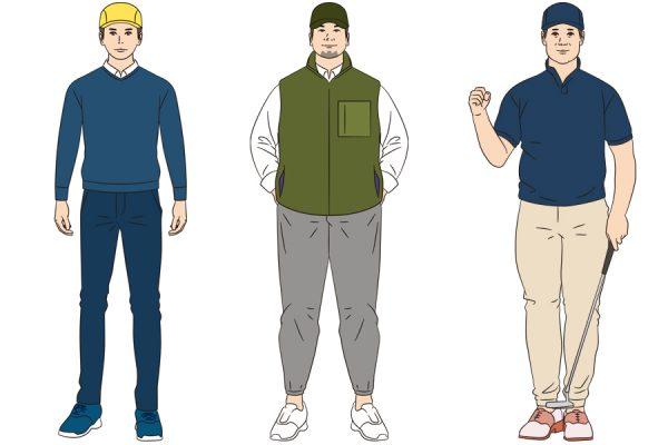 お洒落コーデは七難隠す。お悩み体型をカバーするゴルフウェア着こなしのコツ