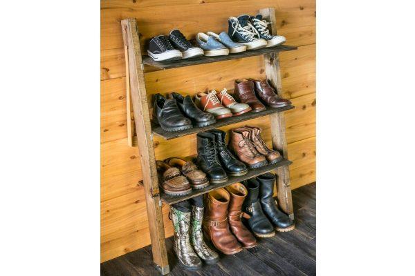 持っているブーツの高さに合わせてぴったり作ろう! 簡単シューズラックの作り方。