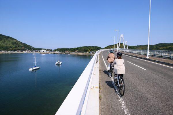 ゆめしま海道でクルージングライド! eバイクをヨットに載せ、島から島へ