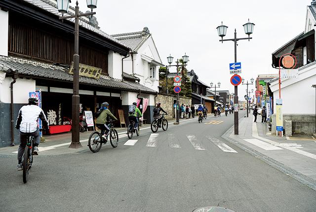 土浦の城下町の面影が残る中城通り