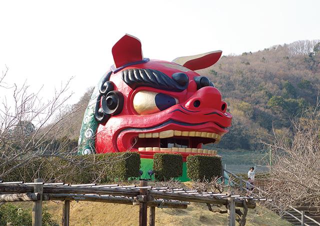 常陸風土記の丘は日本一大きい獅子舞の頭が有名